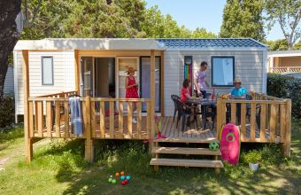 Mobil-home Famille camping de L'Eve