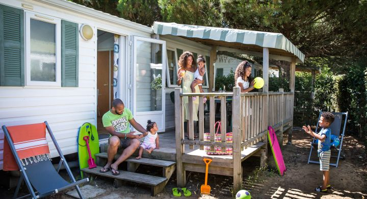 Mobil-home Ibiza camping Les Peupliers